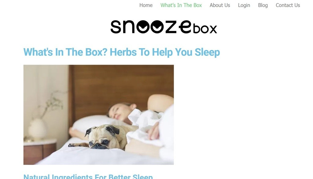 Snooze Box example